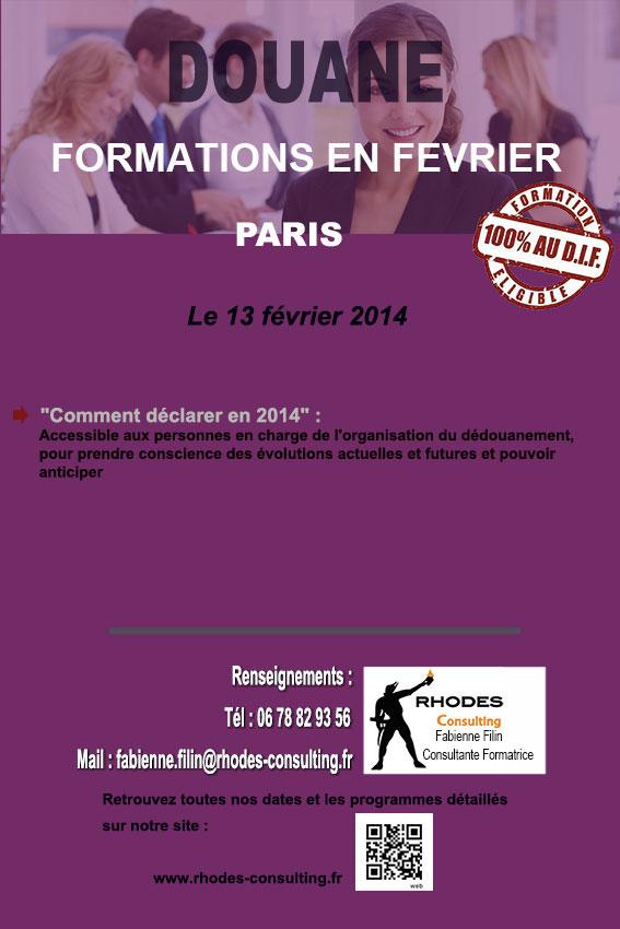 Formation Douane en Fevrier-2014-Rhodes-Consulting