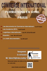 Formation Import export en avril paris-2014-Rhodes-Consulting